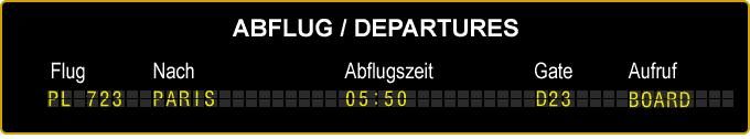 Abflugplan Dresden